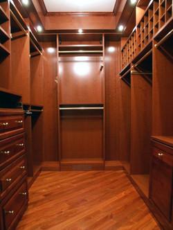 Walk-in Maple Closet