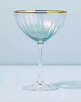Anthropolige waterfall prosecco glasses.