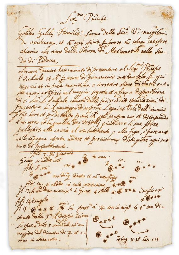Beginner Astronomy: Galileo's Manuscript