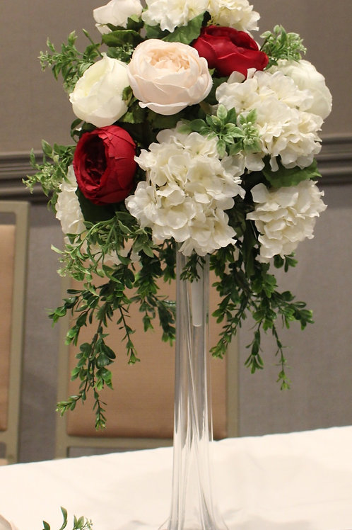 Tall Hydrangea and Rose Arrangement (Flowers Only)
