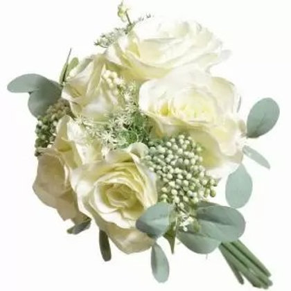 Roses with touches of Berries and Greenery - Cream