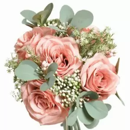 Roses with touches of Berries and Greenery - Mauve