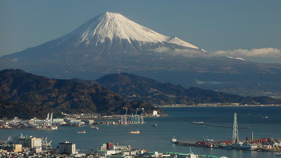 Mount Fuji - a view from Atami