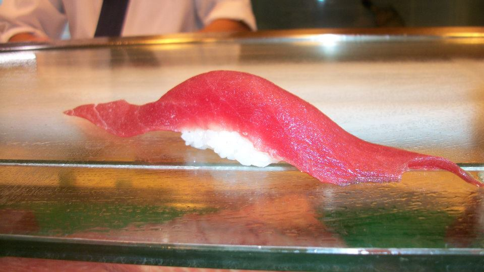 single piece of tuna
