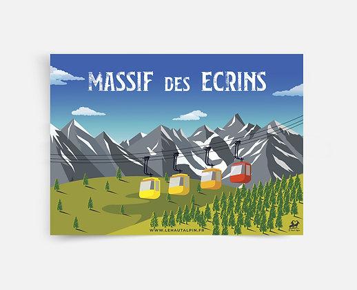 Affiche Massif des Ecrins