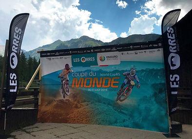 Fond de podium LES ORRES Enduro Series