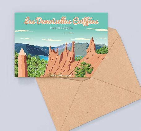 Carte Postale Demoiselles Coiffées