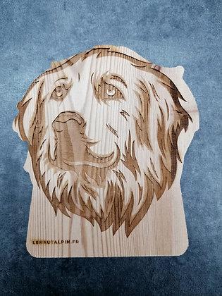 Décoration Patou en bois
