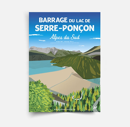 Affiche Barrage de Serre-Ponçon
