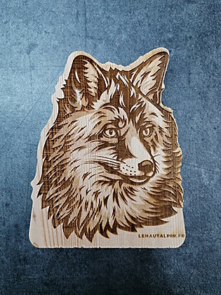 Décoration Renard en bois