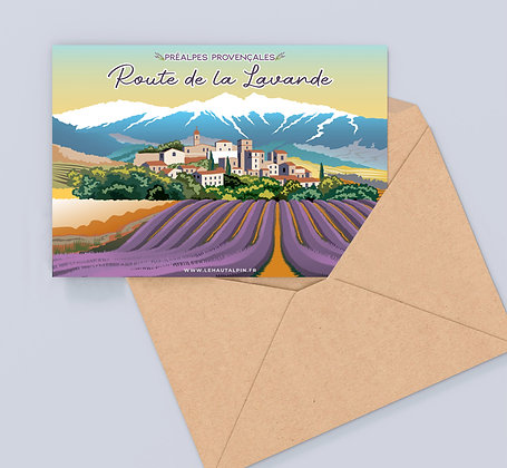 Carte Postale Route de la Lavande