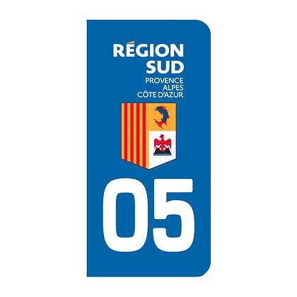 Lot de 2 adhésifs 05 Région Sud