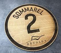 Plaque en bois Piste de ski Dévoluy