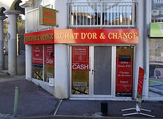 Enseigne Achat Or éclairage indirect