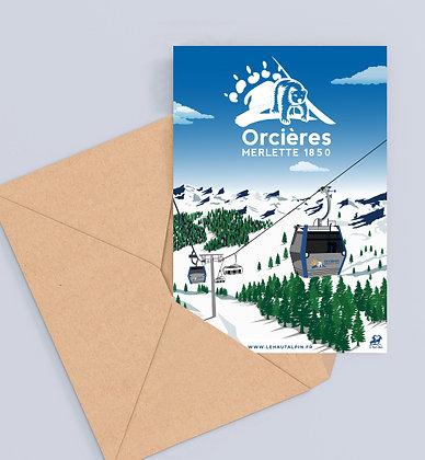 Carte Postale Orcières Merlette 1850