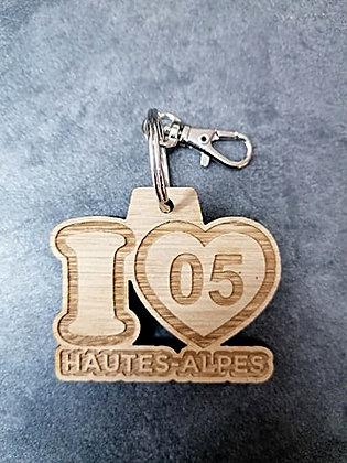 Porte-clés I Love 05 Hautes-Alpes