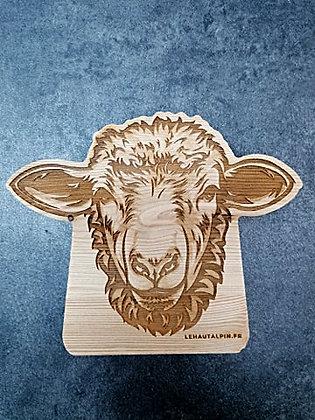 Décoration Mouton en bois