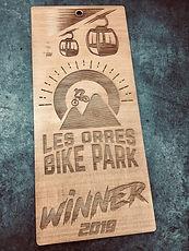 plaque déco gravure laser bike park