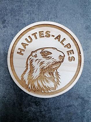 Dessous de verre Marmotte