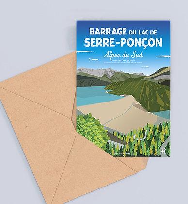 Carte Postale Barrage de Serre-Ponçon