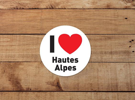 Adhésifs I Love Hautes-Alpes