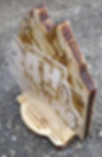 Trophée en bois et plexi 24h des Hautes-Alpes