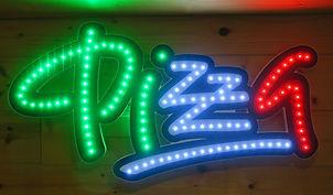 enseigne lumineuse pizza leds métier