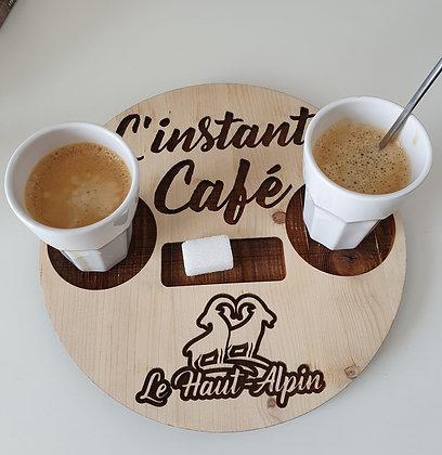 Plateau en bois Café