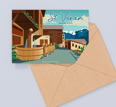 Carte Postale St Véran