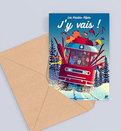 Carte Postale Les Hautes-Alpes J'y Vais !