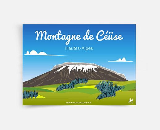 Affiche Montagne de Céüse