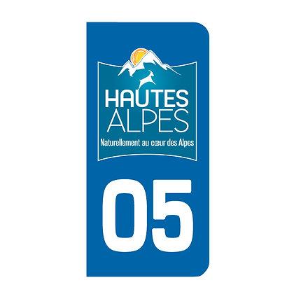 Lot de 2 adhésifs 05 Hautes Alpes