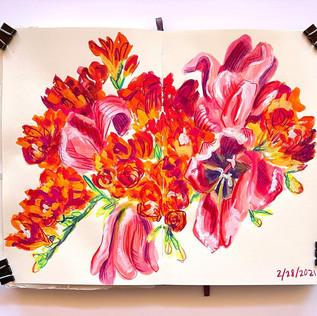 Fressias and Tulips