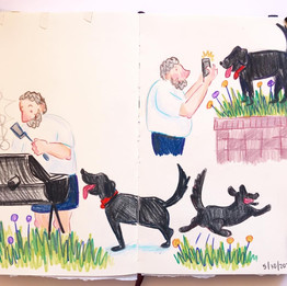 Neighbor and Dog