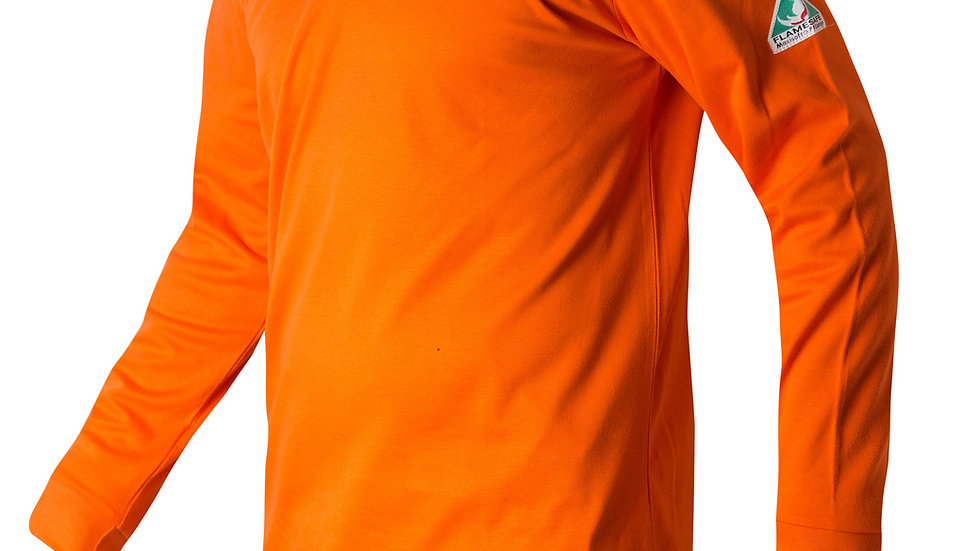 Henley Cotton FR Orange