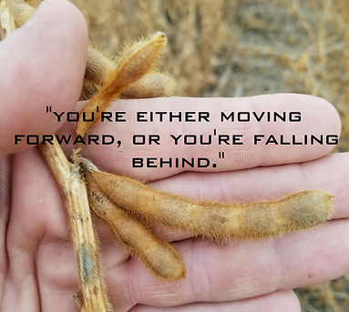 You're either moving forward, or you're falling behind