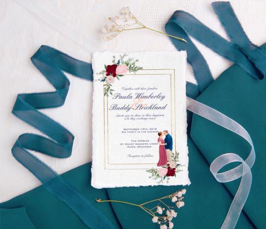 watercolor wedding invitations