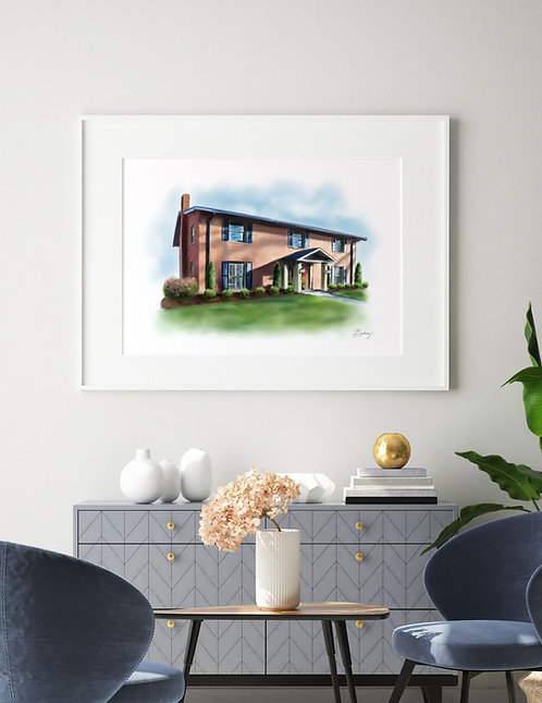 Custom Home or Venue Illustration