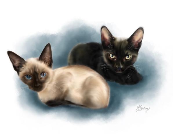 custom watercolor pet memorial portrait
