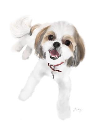 custom watercolor dog painting