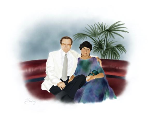 realistic watercolor style portrait