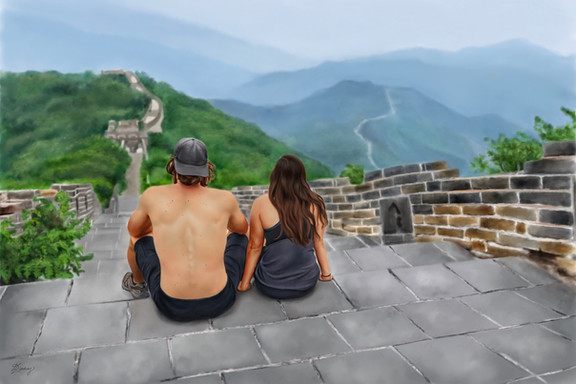 custom landscape illustration