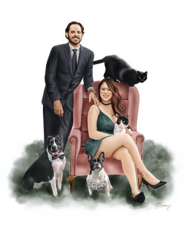 custom family portrait painting
