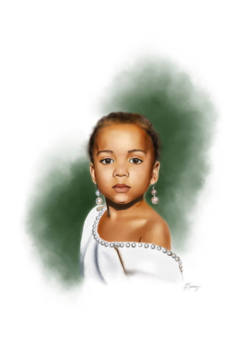 watercolor & ink style portrait