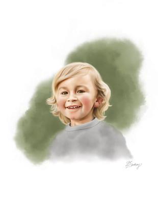 realistic style watercolor portrait