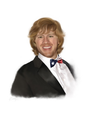 realistic watercolor style memorial portrait