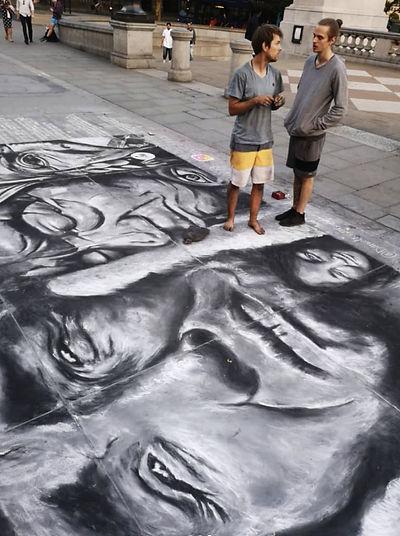 Daniel Swan Street Art in London Trafalg