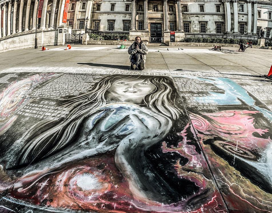 Enlightenment Street Art by Daniel Swan