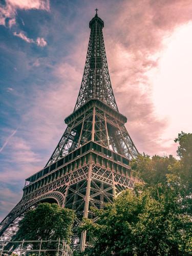 Beautiful Eiffel Tower Sunrise