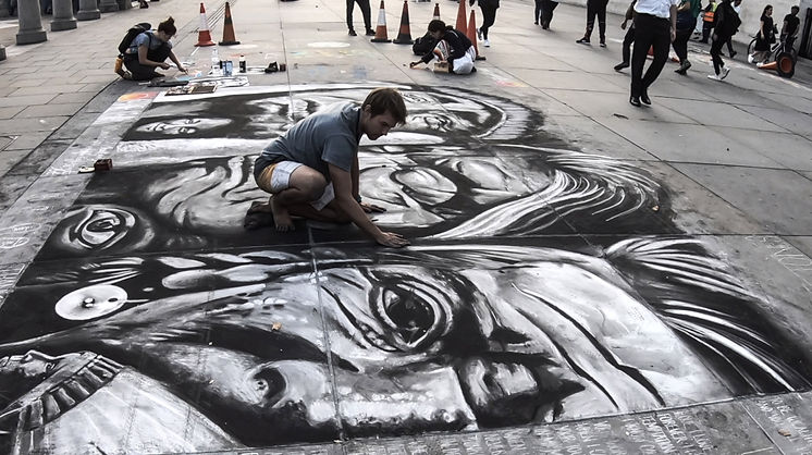 Daniel Swan Street Art Native American I